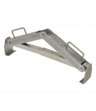 Vestil 1000 lb Load Vertical 30 & 55-Gallon Stainless Steel Drum Lifter