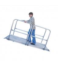 Vestil AWR-A-HR Overlap Aluminum Handrail Walk Ramps