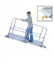 Vestil AWR-B-HR Steel Hook Aluminum Handrail Walk Ramps