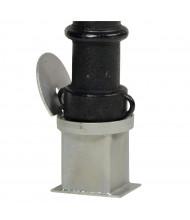 Vestil Replacement Socket Casting for Steel Bollard Post BOL-OR-40-BK