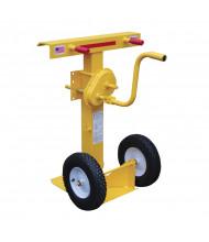 """Vestil 41"""" to 55"""" Hand Crank Trailer Stabilizing Jack 100,000 lb Static Load, Pneumatic Wheels"""