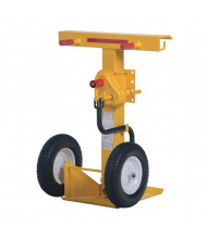 "Vestil 41"" to 55"" Hand Crank Trailer Stabilizing Jack 100,000 lb Static Load, Solid Foam Wheels"
