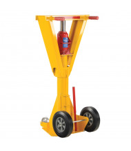 """Vestil 41"""" to 47"""" Hydraulic Beam Trailer Stabilizing Jack Stand 100,000 lb Static Load"""