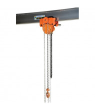 Vestil Push 1000 to 6000 lb Load Low Headroom Chain Hoist Trolley