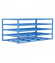 "Vestil 54"" W x 102"" D x 48"" H 5-Shelf Horizontal Sheet Rack"