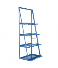 "Vestil 40"" W x 24"" D x 84"" H 3-Bay Vertical Bar Storage Rack"
