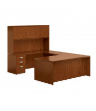 Offices to Go Ventnor VF-B U-Shaped Office Desk Set (Shown in Toffee)