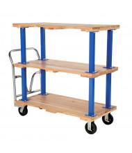 Vestil Triple Hardwood Decker 1600 lb Load Platform Trucks