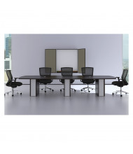 Cherryman Verde 12 ft Boat-Shaped Conference Table (Shown in Espresso)