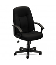 Basyx VL601 Fabric Mid-Back Executive Chair, Black