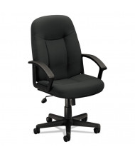 Basyx VL601 Fabric Mid-Back Executive Chair, Charcoal