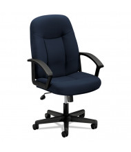 Basyx VL601 Fabric Mid-Back Executive Chair, Navy