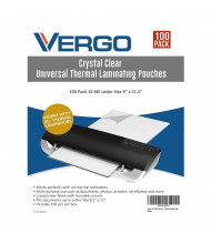 "Vergo Industrial 10 Mil Letter Size 9"" x 11.5"" Laminating Pouches (100 pcs)"