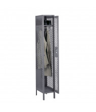 Tennsco Ventilated Assembled Single Tier Steel Lockers with Legs (Shown in Medium Grey)