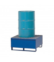 Vestil VSRB 55-Gallon Steel Drum Spill Containment Basins, 66 Gal, 600 to 2400 lb Load (One Drum Model Shown)