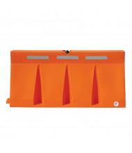 "Vestil 74"" L x 34"" H Poly Traffic Barricade (orange)"