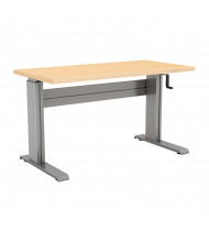 "RightAngle Vuelta Crank Adjustable 27"" - 47"" H Rectangle Table (Shown in Hardrock Maple)"