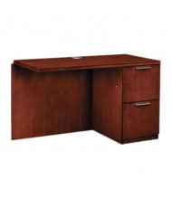 "HON Arrive Wood Veneer 48"" Right Return With Pedestal, Henna Cherry"