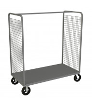 Durham Steel 1600 lb Load Full Height Wire Cage Stock Carts (2-Sided Model Shown)
