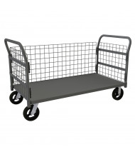 Durham Steel 2000 lb Load Wire Cage Stock Carts (3-Sided Shown)