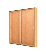 "Waddell Legacy 88 Series Wall Display Cabinet 48""H x 4""D (Shown in 48"" W / Cork)"