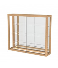 "Waddell Heirloom 890K Series Wall Display Case 36""W x 30""H x 8""D (Shown as Natural Oak / Mirror Back)"
