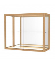 "Waddell Heirloom 894K Series Top Display Case 36""W x 30""H x 14""D (mirror back/natural oak)"