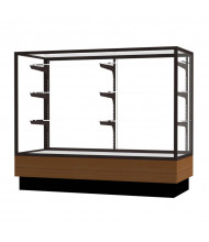 "Waddell Merchandiser 2010-4 Series Store Retail Counter Display Case 48""W x 40""H x 20""D (Shown in Light Oak/Dark Bronze)"