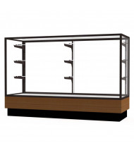 "Waddell Merchandiser 2010-5 Series Store Retail Counter Display Case 60""W x 40""H x 20""D (Shown in Light Oak/Dark Bronze)"