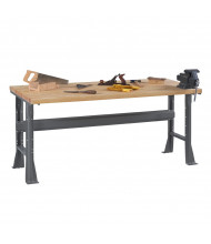 Tennsco Solid Hardwood Top Fixed Leg Workbenches
