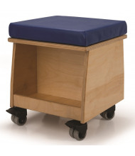 "Whitney Brothers 16"" H Mobile Teacher's Classroom Stool"