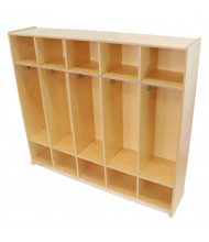 Whitney Brothers 5-Section Cubbie Coat Locker