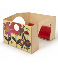 Whitney Brothers Flowered Reading Center with Cushion