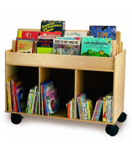"Whitney Brothers 41"" W Mobile Book Display Island"