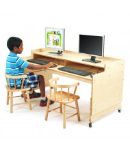 """Whitney Brothers 49"""" W x 24"""" D Mobile Height Adjustable Computer Desk"""