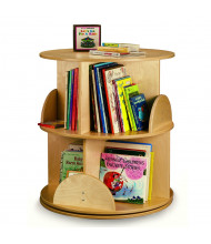 "Whitney Brothers 22"" Dia. 2-Level Carousel Book Display Stand"