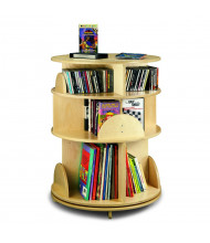 "Whitney Brothers 22"" Dia. 3-Level Media Carousel Book Display Stand"
