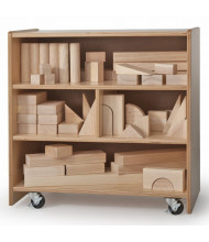 Whitney Brothers Small Mobile Block Cabinet (Blocks Not Included)