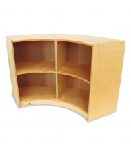 Whitney Brothers Curve-Out Storage Shelf