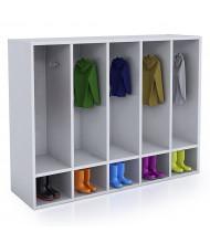 Whitney Brothers 5-Section Laminate Coat Locker