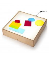 Whitney Brothers Superbright LED Tabletop Light Box (Shown in use, color shapes not included)