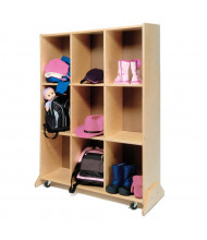 Whitney Brothers Mobile 9 Cubbie Classroom Storage and Teaching Center