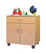 Whitney Brothers Mobile Teacher's Locking Storage Cabinet