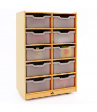 Whitney Brothers 10 Cubby Mobile Tray Storage Cabinet