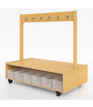 Whitney Brothers Mobile Coat Storage Bench