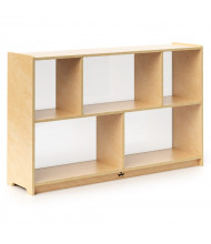 """Whitney Brothers 30"""" H 5-Section Acrylic Back Storage Cabinet"""