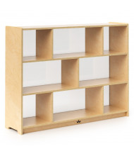 """Whitney Brothers 36"""" H 8-Section Acrylic Back Storage Cabinet"""
