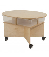 Whitney Brothers Mobile Collaboration Table with Trays