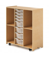 Whitney Brothers Mobile Backpack Cubbie Cabinet with Trays