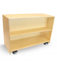 Whitney Brothers 2-Shelf Mobile Book Classroom Storage Unit